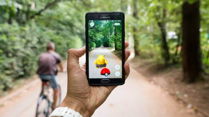 pokemon augmented reality mobile app image