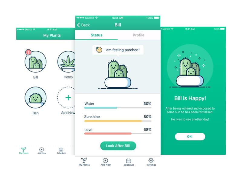 indoor office garden plant watering app