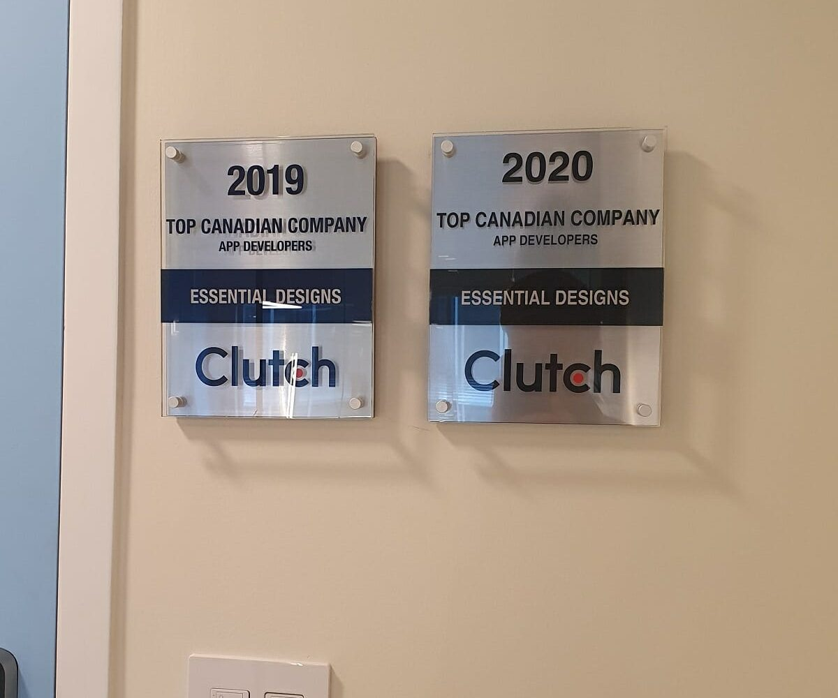Clutch Awards 2020 Canada Top Mobile App Developers Essential Designs Software